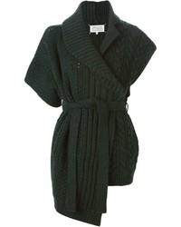 Женский темно-зеленый вязаный открытый кардиган от Maison Margiela