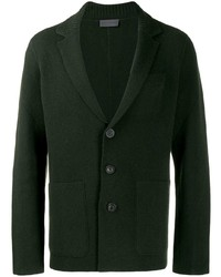 Мужской темно-зеленый вязаный пиджак от Iris von Arnim