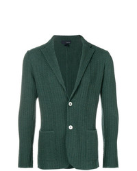 Мужской темно-зеленый вязаный пиджак от Lardini