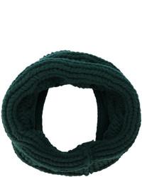 Мужской темно-зеленый вязаный шарф от Balmain