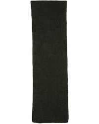 Женский темно-зеленый вязаный шарф от Etoile Isabel Marant