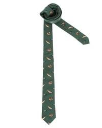 Мужской темно-зеленый галстук с принтом от Asos