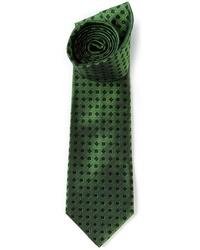 Мужской темно-зеленый галстук с принтом от Etro
