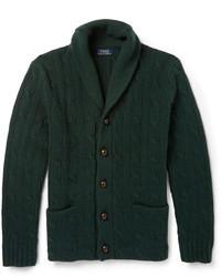 Мужской темно-зеленый кардиган с отложным воротником от Polo Ralph Lauren