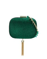 Темно-зеленый клатч с пайетками от Serpui