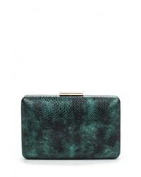 Темно-зеленый кожаный клатч от Olga Berg