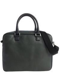 Темно-зеленый кожаный портфель