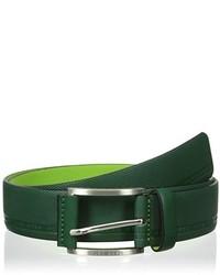 Темно-зеленый кожаный ремень