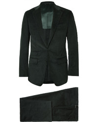 Темно-зеленый костюм