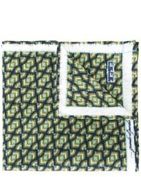 Мужской темно-зеленый нагрудный платок с принтом от fe-fe