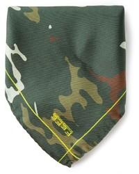 Темно-зеленый нагрудный платок с принтом от fe-fe