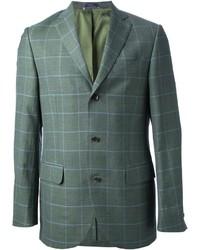 Темно-зеленый пиджак в клетку