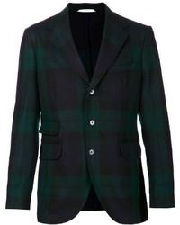 Темно-зеленый пиджак в шотландскую клетку