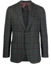 Мужской темно-зеленый пиджак в шотландскую клетку от Barba