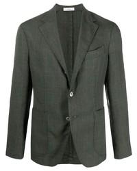 Мужской темно-зеленый пиджак в шотландскую клетку от Boglioli