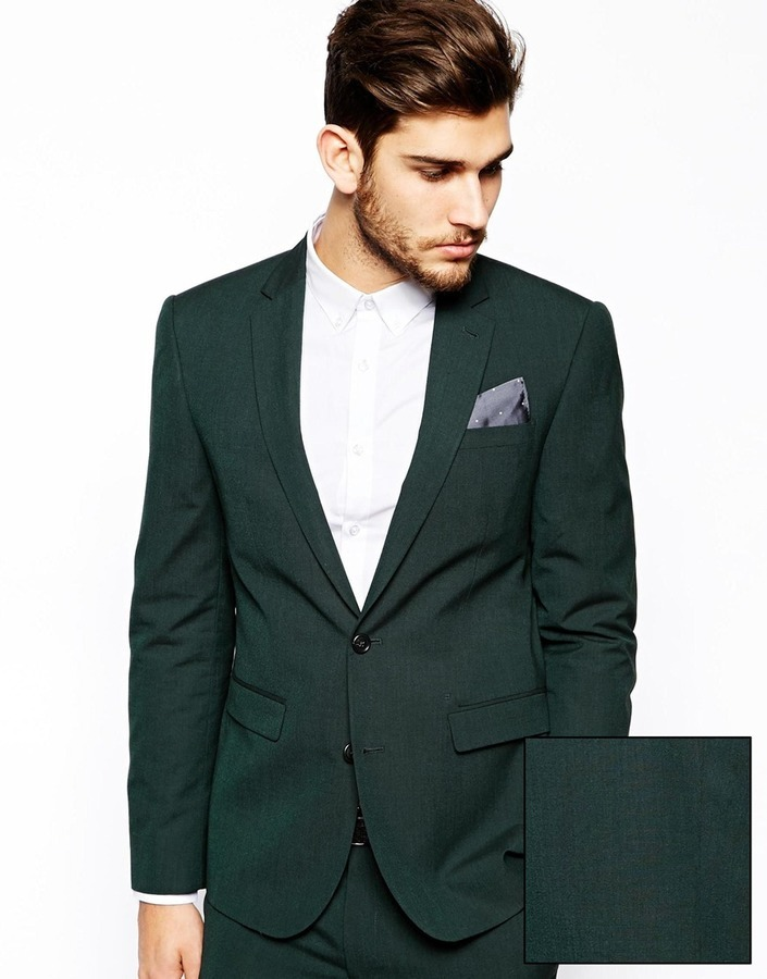 c1d5f6443ae7 Мужской темно-зеленый пиджак от Asos, 6 543 руб. | Asos | Лукастик