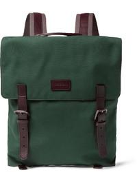 Темно-зеленый рюкзак из плотной ткани