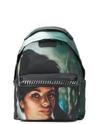 Темно-зеленый рюкзак с принтом