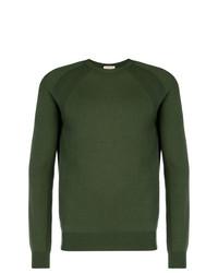 Мужской темно-зеленый свитер с круглым вырезом от Al Duca D'Aosta 1902