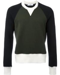 Мужской темно-зеленый свитер с круглым вырезом от AMI Alexandre Mattiussi