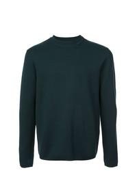 Мужской темно-зеленый свитер с круглым вырезом от Aztech Mountain