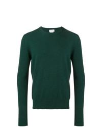 Мужской темно-зеленый свитер с круглым вырезом от Ballantyne