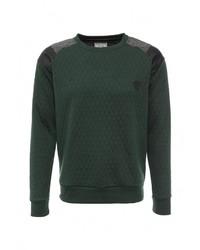 Мужской темно-зеленый свитер с круглым вырезом от Brave Soul
