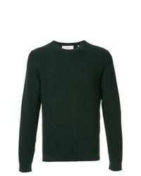 Мужской темно-зеленый свитер с круглым вырезом от Cerruti 1881