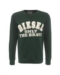 Мужской темно-зеленый свитер с круглым вырезом от Diesel