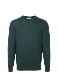 Мужской темно-зеленый свитер с круглым вырезом от Gieves & Hawkes