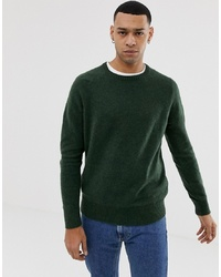 Мужской темно-зеленый свитер с круглым вырезом от J.Crew Mercantile