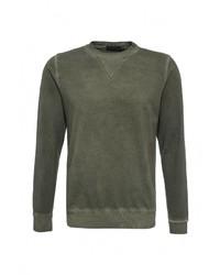 Мужской темно-зеленый свитер с круглым вырезом от Massimiliano Bini