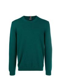 Мужской темно-зеленый свитер с круглым вырезом от Ps By Paul Smith