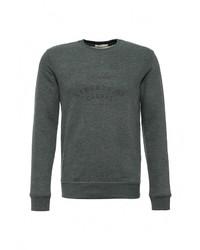 Мужской темно-зеленый свитер с круглым вырезом от Selected Homme