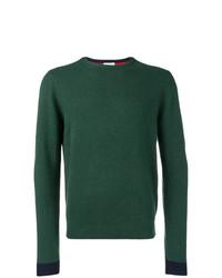 Мужской темно-зеленый свитер с круглым вырезом от Sun 68