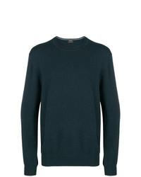 Мужской темно-зеленый свитер с круглым вырезом от Z Zegna