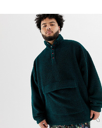 Мужской темно-зеленый свитшот от ASOS DESIGN