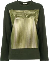 Женский темно-зеленый свитшот от Fendi