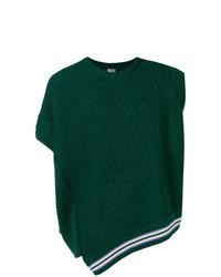 Темно-зеленый трикотажный жилет