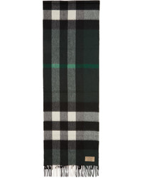 Мужской темно-зеленый шарф в клетку от Burberry