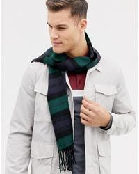 Мужской темно-зеленый шарф в клетку от Burton Menswear