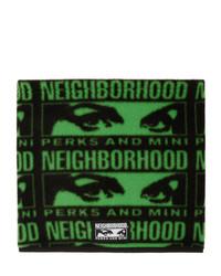 Мужской темно-зеленый шарф с принтом от Perks And Mini