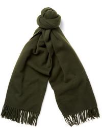 Темно-зеленый шарф