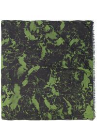 Мужской темно-зеленый шарф от Balmain