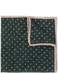 Темно-зеленый шерстяной нагрудный платок в горошек от Eleventy