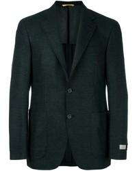 Темно-зеленый шерстяной пиджак