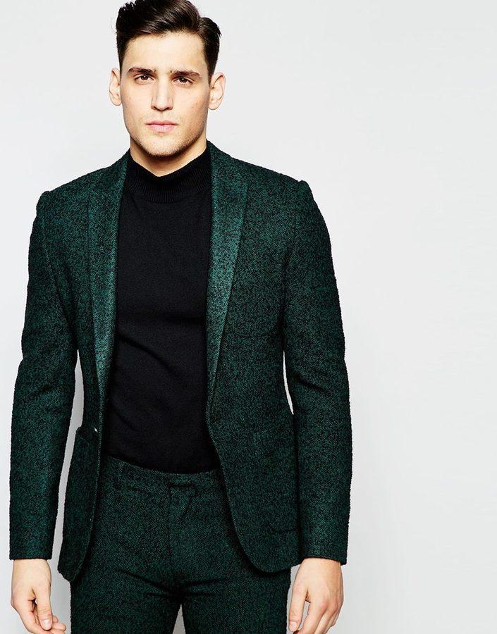 e9bf43df74da Мужской темно-зеленый шерстяной пиджак от Asos, 7 184 руб. | Asos ...