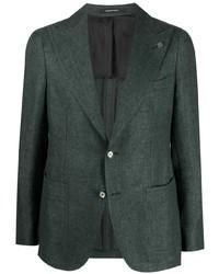 Мужской темно-зеленый шерстяной пиджак от Tagliatore