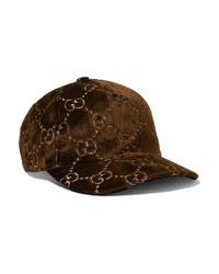 Женская темно-коричневая бейсболка от Gucci