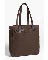 Темно-коричневая большая сумка из плотной ткани